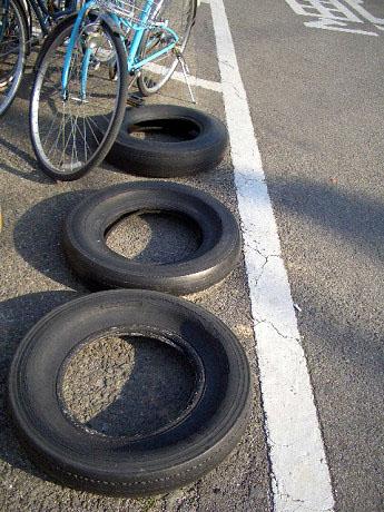 タイヤと自転車