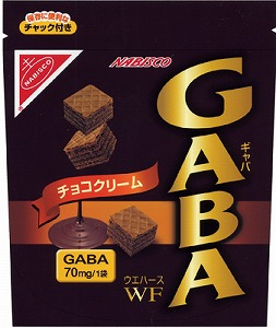 「GABA ウエハース チョコクリーム」