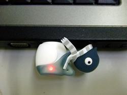 ペンギン USB 使用中
