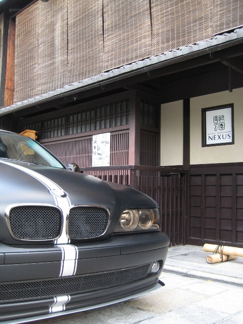 BMW MatBlack 祇園撮影