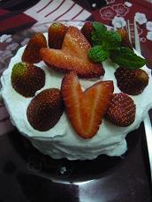 おひとり様用ショートケーキ