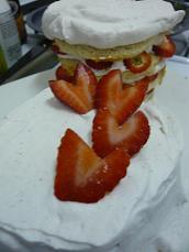 ハートショートケーキ