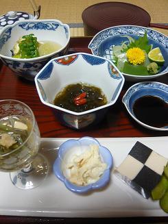 精進料理夕食①