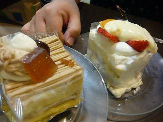 どこまでも食べるケーキ