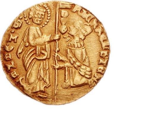 ゼッキーノ金貨 1,400年頃 元首ミケーレ・ステノ その1
