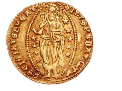 ゼッキーノ金貨 1400年頃 元首ミケーレ・ステノ その2