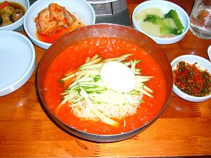 水キムチ冷麺