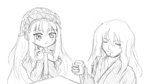 リ「お父さん、お茶ですよ」 ヴ「うむ」