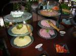 「朝食 チーズ、ハム」Beduur Restaurant Ubud Hanging Gardens(バリ島)