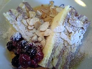 「ローストアーモンドとキャラメルソースのケーキディッシュ」カカオロマンス(福岡市)