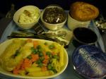 「夕食」シンガポール航空(デンパサール→シンガポール)