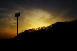 風越公園-夕焼け01