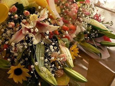 先生へ贈った花束