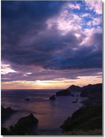あいあい岬の夕陽1