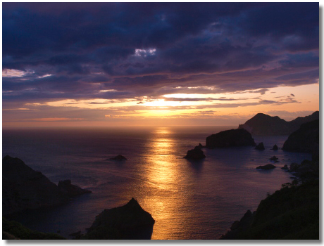 あいあい岬の夕陽2