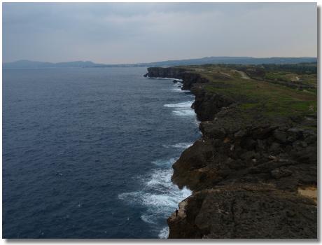 残波岬岩壁