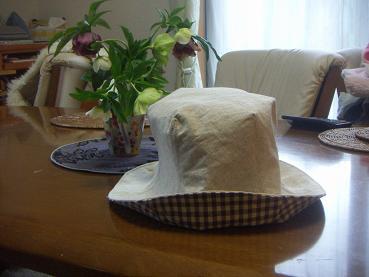 ミモザ帽子
