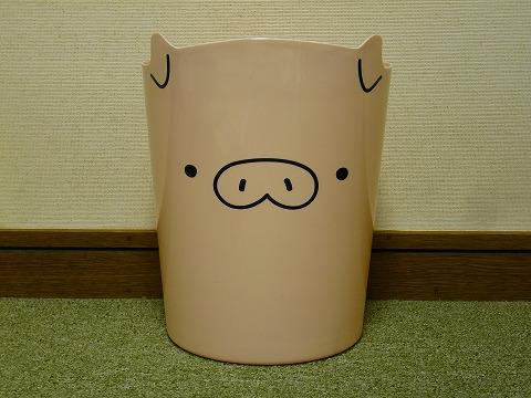 ぶたさんゴミ箱。