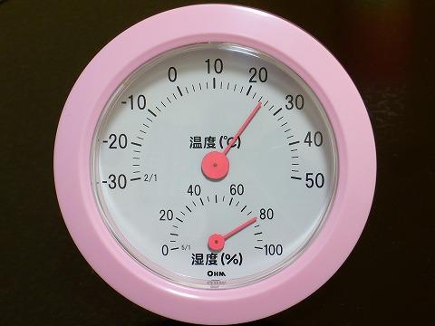 温度・湿度計。