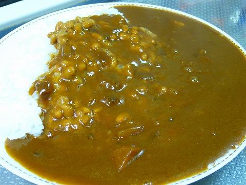 納豆カレーinトップバリュ。