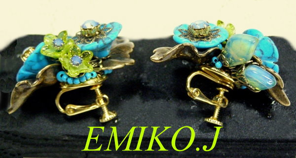 EMIKO.Jターコイズイヤリング