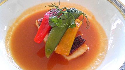 桜鯛と春野菜のエチュヴェ