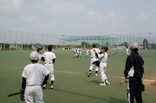 試合前の練習