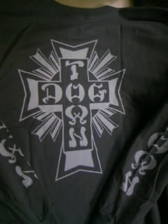 Dog Town Cross logo LS-T 3-4