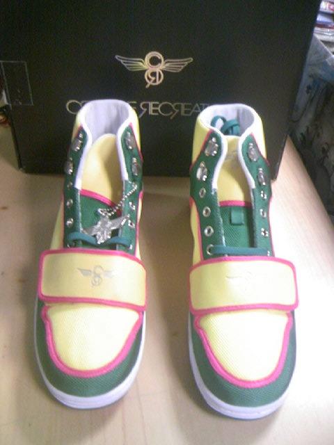 CR8 Cesario-Hi Dk.gren/Yel/Pink 1-1z
