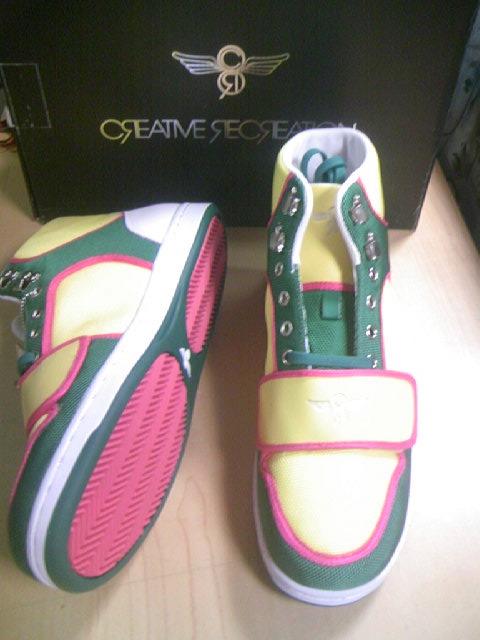 CR8 Cesario-Hi Dk.gren/Yel/Pink 1-2z