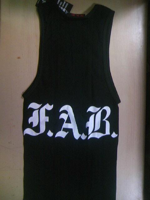 FAB Corpo Logoリブ・タンクトップ 3-2z