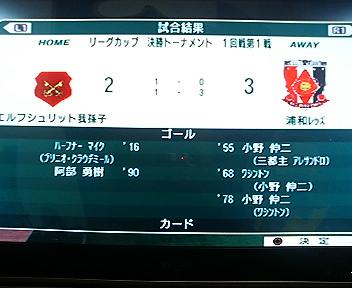 3年目リーグカップ準々決勝1