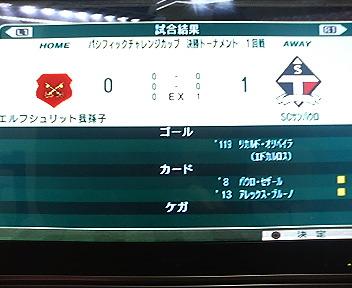 パシフィックカップ1回戦(5年目)