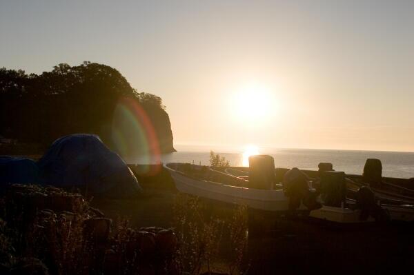 浜の夜明け