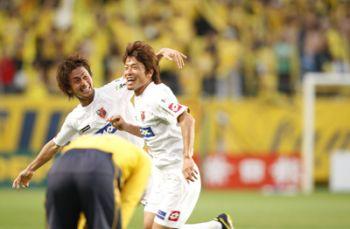 12 Apr 08 - Yosuke Kataoka celebrates his winning goal