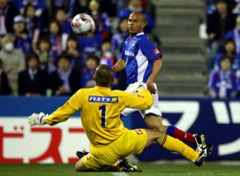 17 Apr 08 - Is it just me, or does Marinos scorer Roni look like Alison?