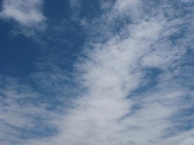 後に残る雲