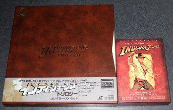 LDとDVDの「インディ・ジョーンズ・トリロジー」BOX