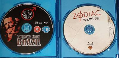 「ブラジルから来た少年」と「ゾディアック ディレクターズカット」のピクチャーディスク