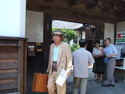 真知子先生の借家、門