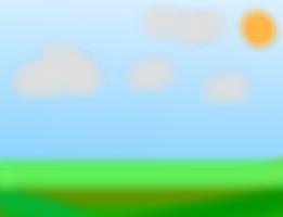 太陽の照りつく草原
