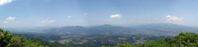 水沢山からのパノラマ画像