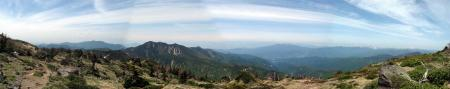 日光白根山山頂手前パノラマ1