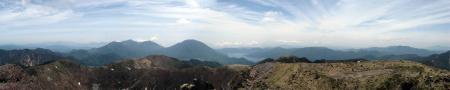 日光白根山山頂パノラマ1
