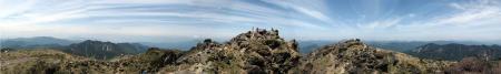 日光白根山山頂パノラマ2
