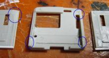 前面と側板の干渉部分加工