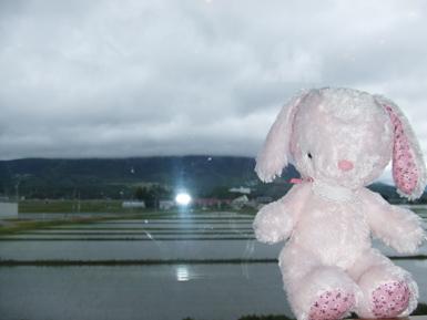 磐梯山は見えませんでした