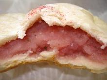 桜のあんパン断面