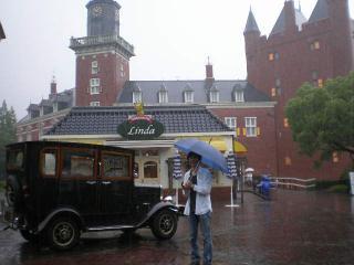 クラシックカーと雨男