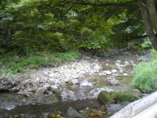 定峰から渓流